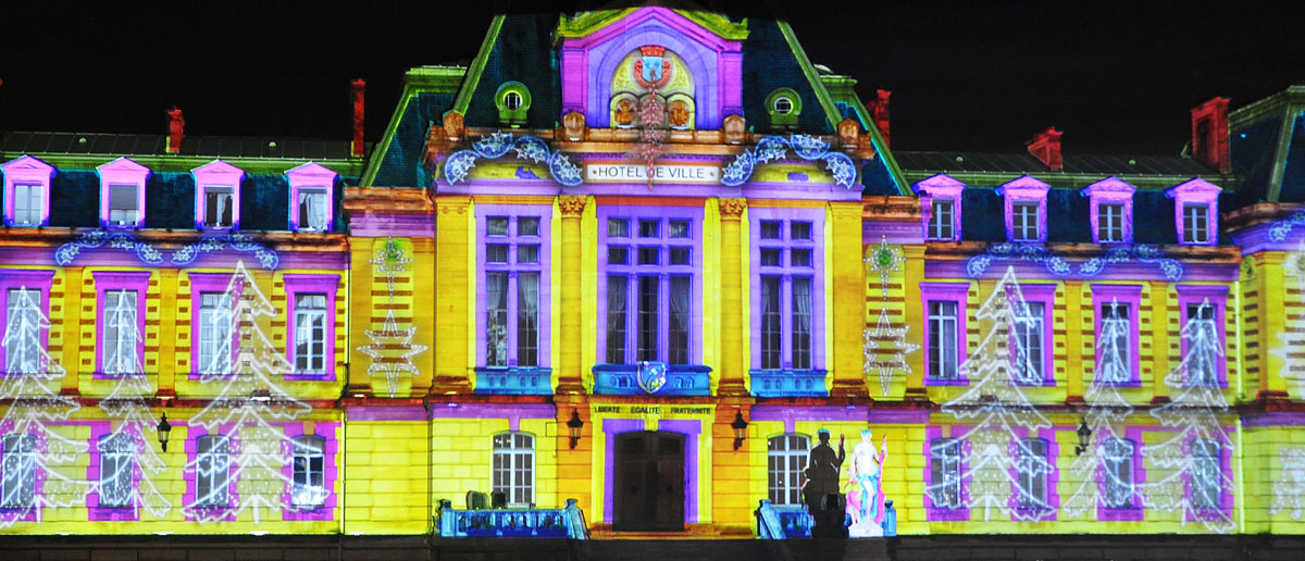 Evreux - Mapping colorisation façade